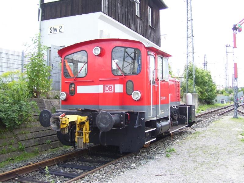 Fahrzeuge auf dem Außengelände im DB-Museum 333-0810