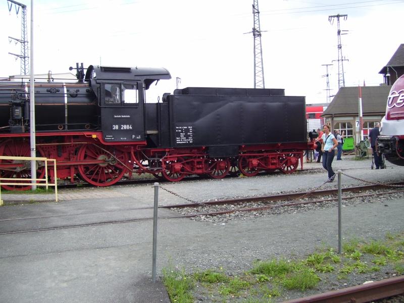 Fahrzeuge auf dem Außengelände im DB-Museum 38-1410