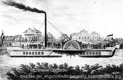 """Dampfmaschine des Dampfbootes """"Königin Maria"""" von 1837 - M1:15 Dkm-110"""