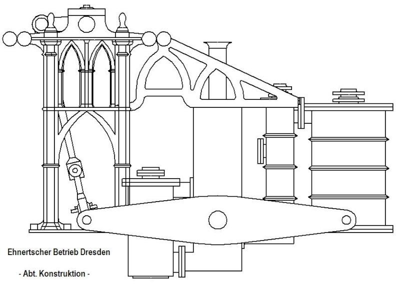 Dampfmaschine des Dampfbootes \