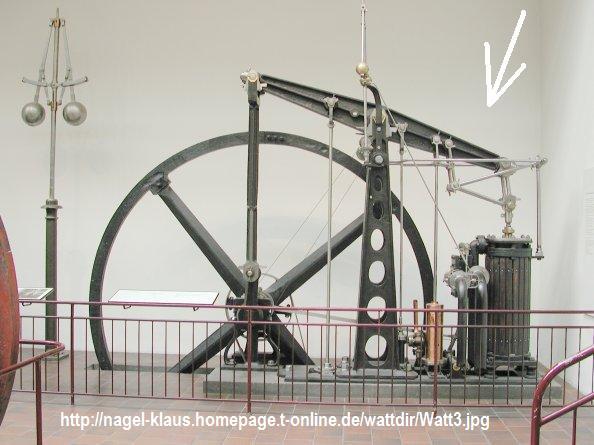"""Dampfmaschine des Dampfbootes """"Königin Maria"""" von 1837 - M1:15 Watt310"""
