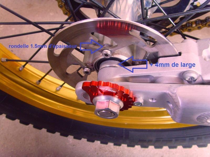 montage roue arrière Sherco sur 4rt Snv32411