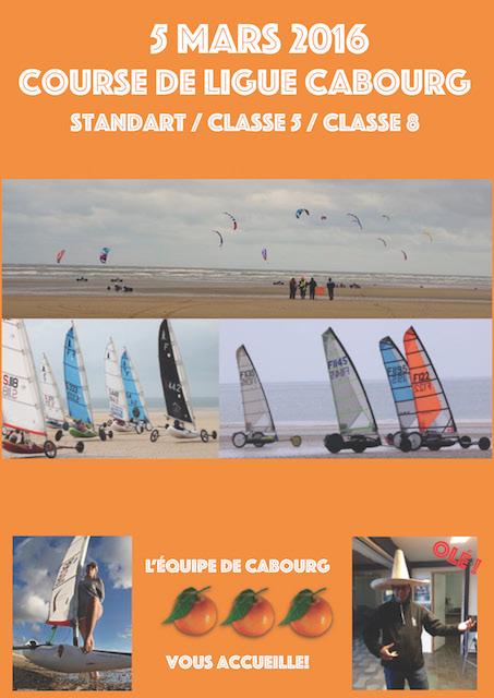 Course de ligue de Cabourg le 5 Mars 2016 Affich10