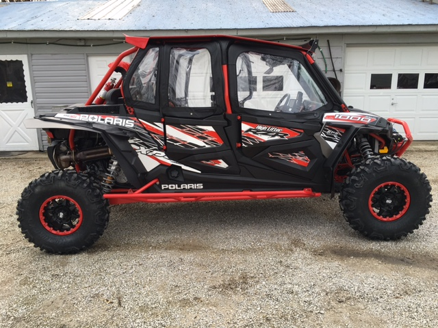 My new 2016 RZR 4 Highlifter edtion Img_0019