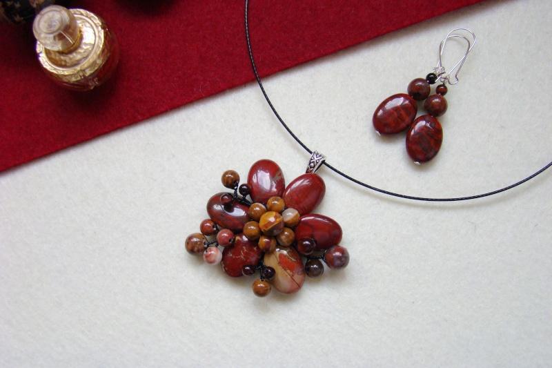"""""""Flori de piatră-Bijoux"""" albumul I-bijuterii artizanale marca Didina Sava - Pagina 7 Colie132"""