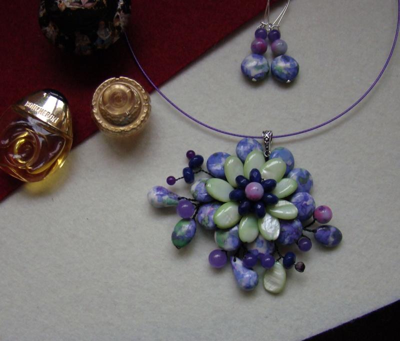"""""""Flori de piatră-Bijoux"""" albumul I-bijuterii artizanale marca Didina Sava - Pagina 6 Colie154"""