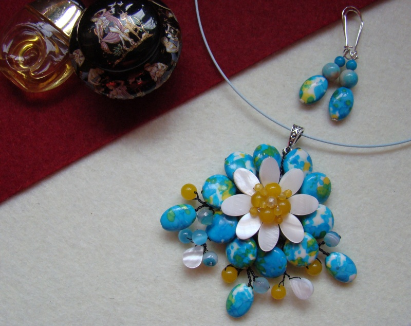 """""""Flori de piatră-Bijoux"""" albumul I-bijuterii artizanale marca Didina Sava - Pagina 6 Colie159"""