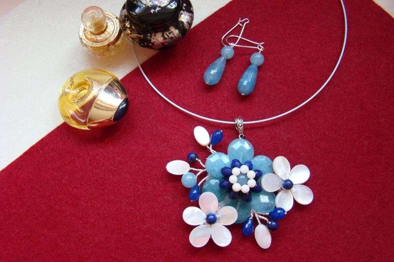 """""""Flori de piatră-Bijoux"""" albumul I-bijuterii artizanale marca Didina Sava - Pagina 6 Colie164"""