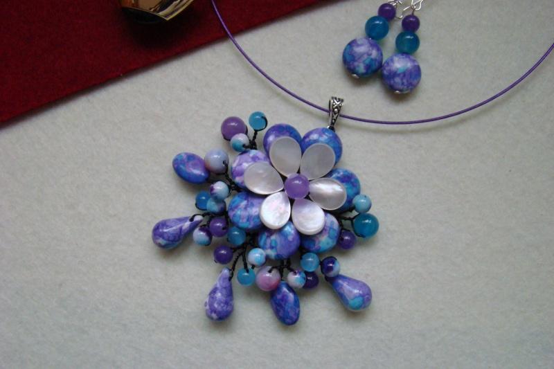 """""""Flori de piatră-Bijoux"""" albumul I-bijuterii artizanale marca Didina Sava - Pagina 6 Colie177"""
