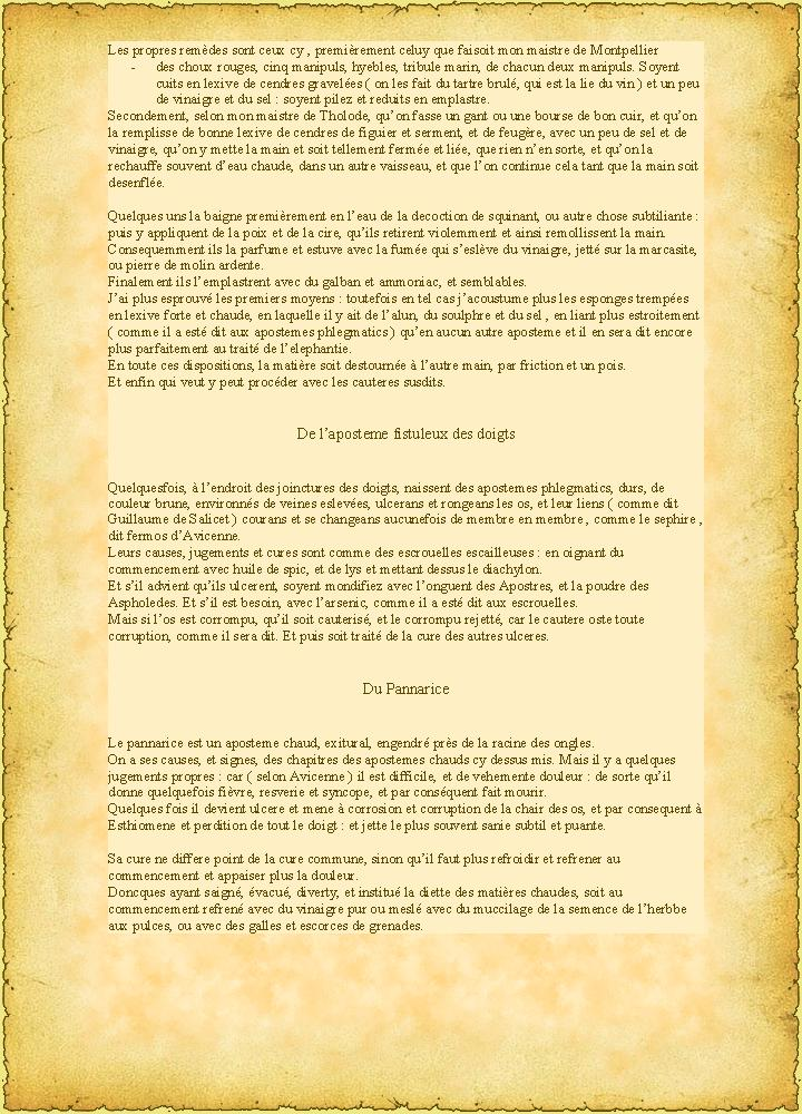 ( Doctrine Seconde ) QUATRIESME CHAPITRE  Des apostemes de l'espaule et des bras P20110