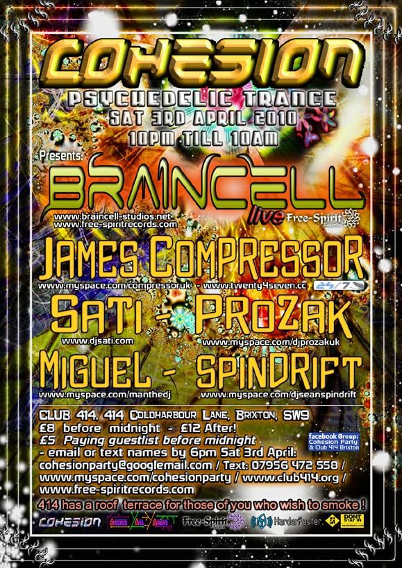 Cohesion Presents - Braincell-Live +James Compressor:) Cohesi10