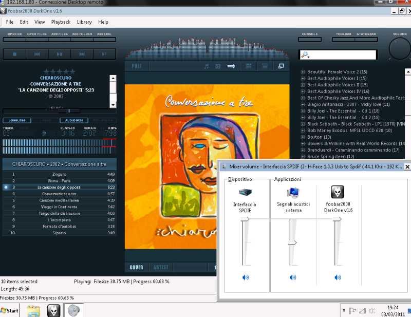 Sorgente : pc o mac Mixer10