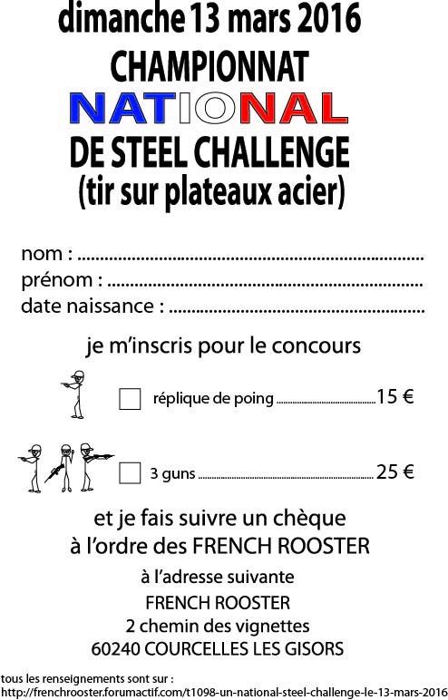un national steel challenge le 13 mars 2016 Inscri10