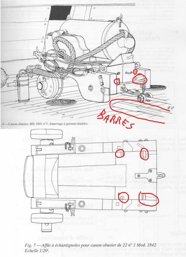 modèle de canon obusier 30 livres neapolitan 1 :18 Partic11