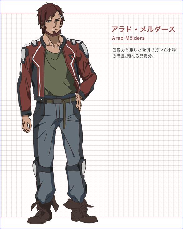 Character design Macross delta Arad_m10