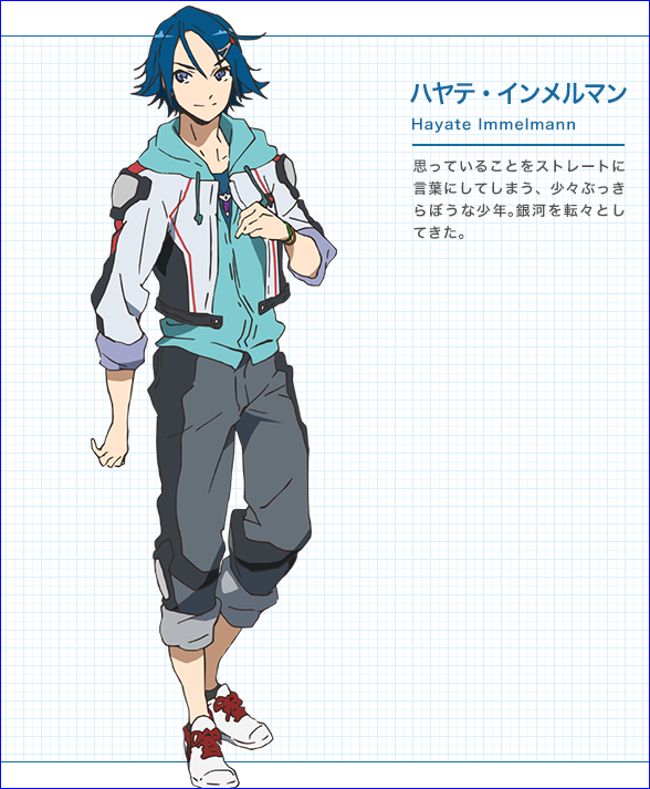 Character design Macross delta Hayate10