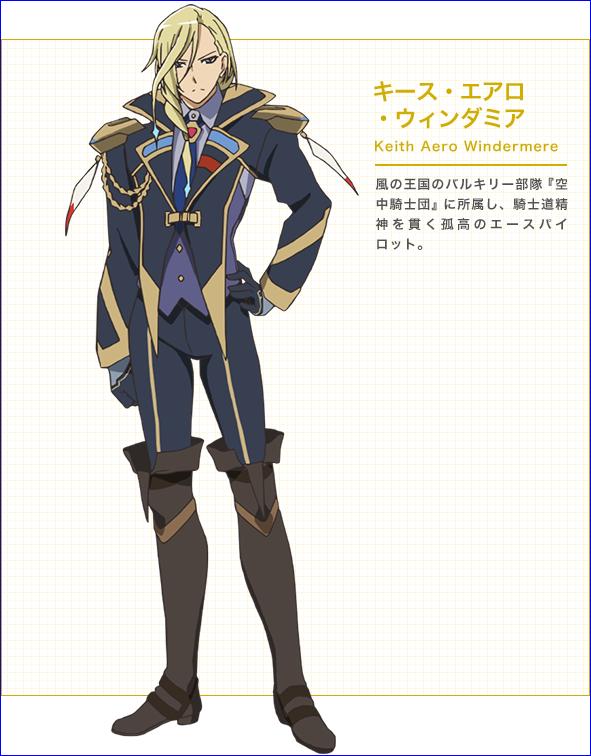 Character design Macross delta Keith_10