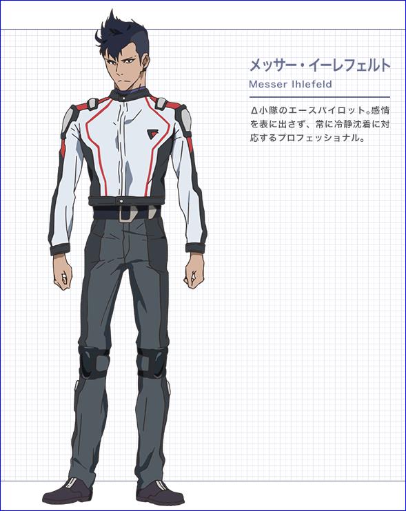 Character design Macross delta Messer10