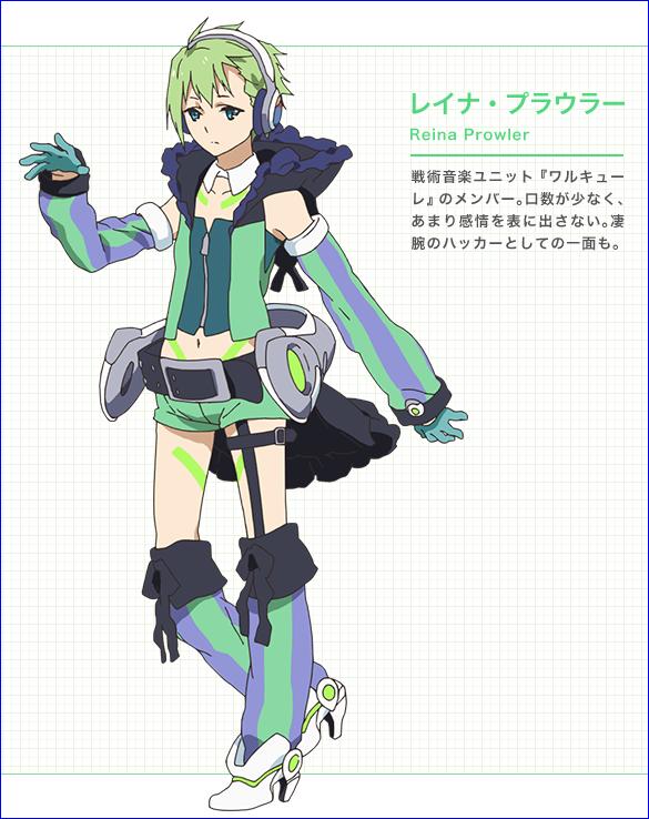 Character design Macross delta Reina_10