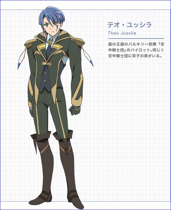 Character design Macross delta Theo_j10