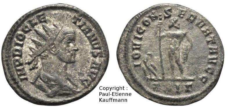 Antoninien de Dioclétien - Atelier de Rome - IOVI CONSERVAT AVGG Copyri12