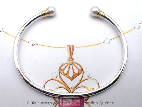 Bracelet rigide avec deux perles Akoya de 5,9 mm Dscn8312