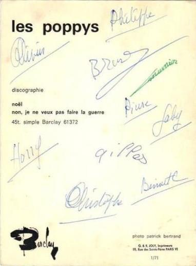 Autographes des Poppys  40760410