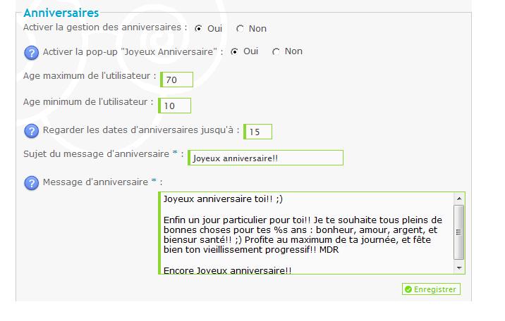 Mail d'anniversaire & Mail d'activation de compte Sans_t10