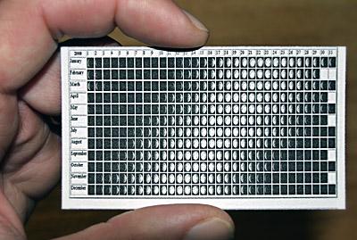 Astucieux Le Calendrier Des Phases De La Lune Pour 2010 Au Format Carte Visite