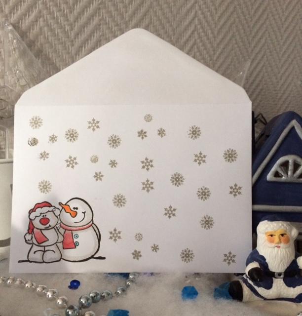 15 décembre - enveloppes pour cartes de voeux - 510