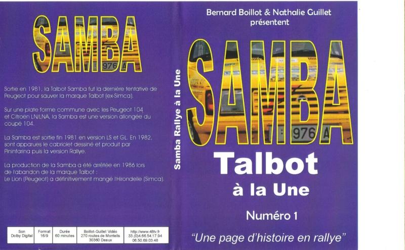 dvd samba en rallye Talbot11