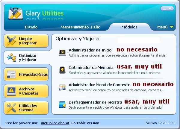 LIMPIEZA DE ORDENADOR / LIMPIEZA DE PC Glaryo10