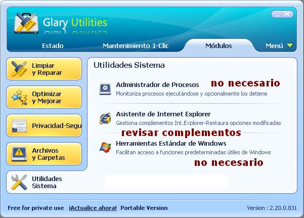 LIMPIEZA DE ORDENADOR / LIMPIEZA DE PC Glaryu10