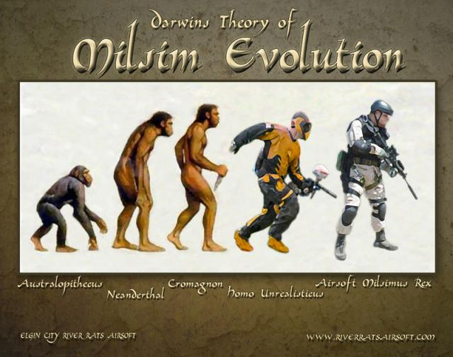 Evolution Darwin jusqu'au joueur d'AAirsoft Evolut10