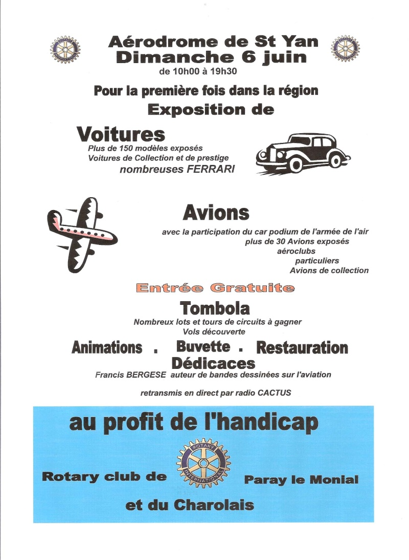avions et vitures de prestige saint yan le 6 juin Affich11