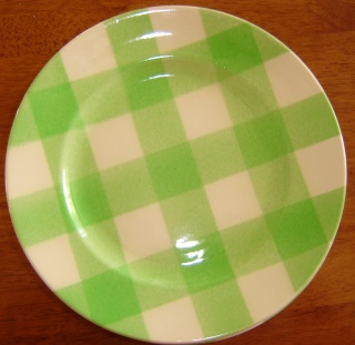 dinner - Checked pattern C.L. Tableware Dsc00112