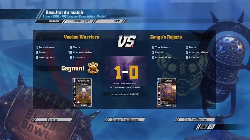 [J1] Zongo's Rejects (Zongo) 0-1 Voodoo Warriors (Voodoo) 2016-045