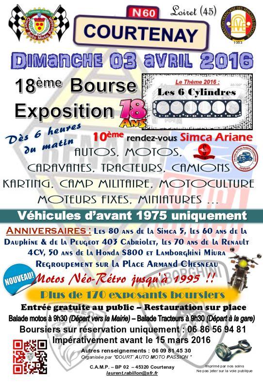 18ème Bourse Exposition de Courtenay le dimanche 3 avril Affich11