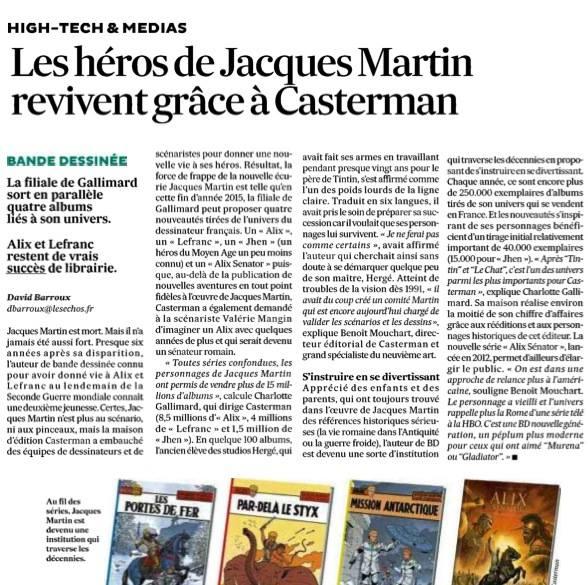 Casterman et les personnages de Jacques Martin Echo10