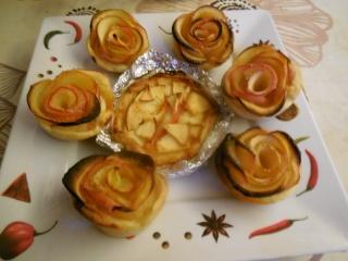 rose apple une autre façon de faire des tartelettes aux pommes Dscn0424