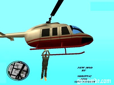 Grab onto a helicopter 12764210