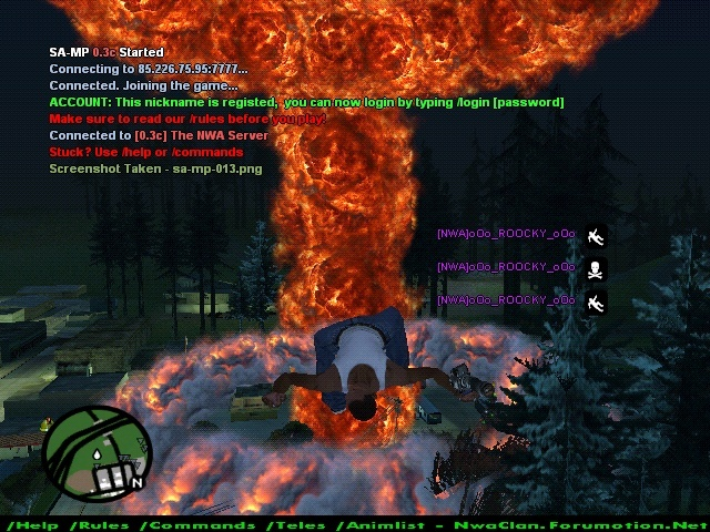 some screenshots from the nuke! Sa-mp-18