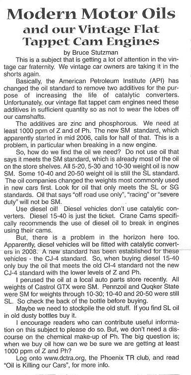 besoin d info sur l huile moteur Modern10
