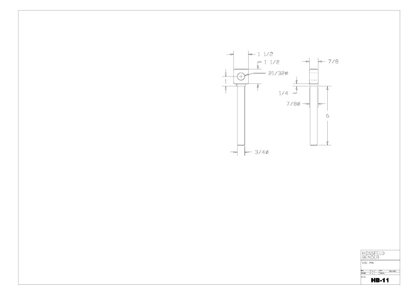 Plans to Build a Hosfeld Bender Hb_1110