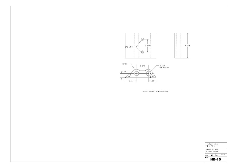 Plans to Build a Hosfeld Bender Hb_1510