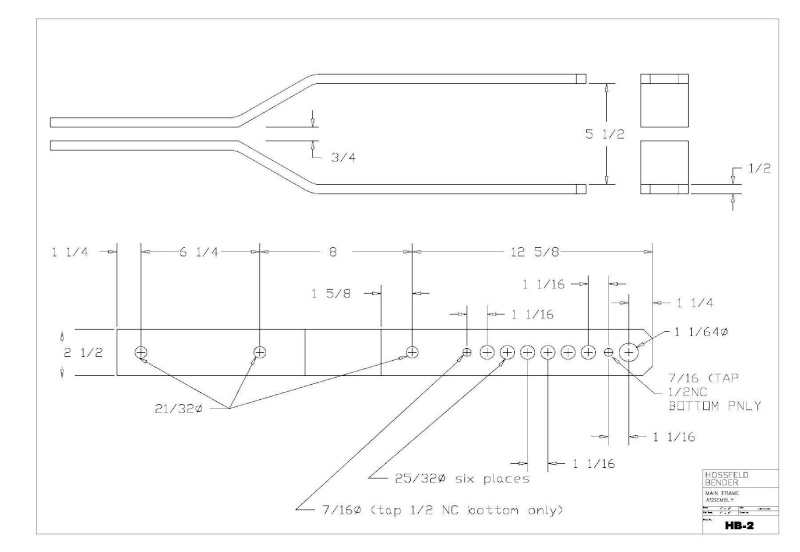 Plans to Build a Hosfeld Bender Hb_210