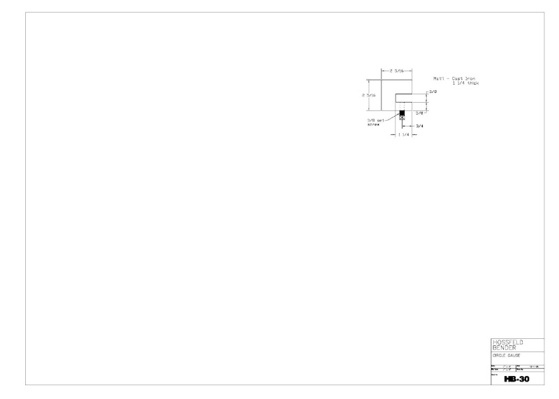 Plans to Build a Hosfeld Bender Hb_3010