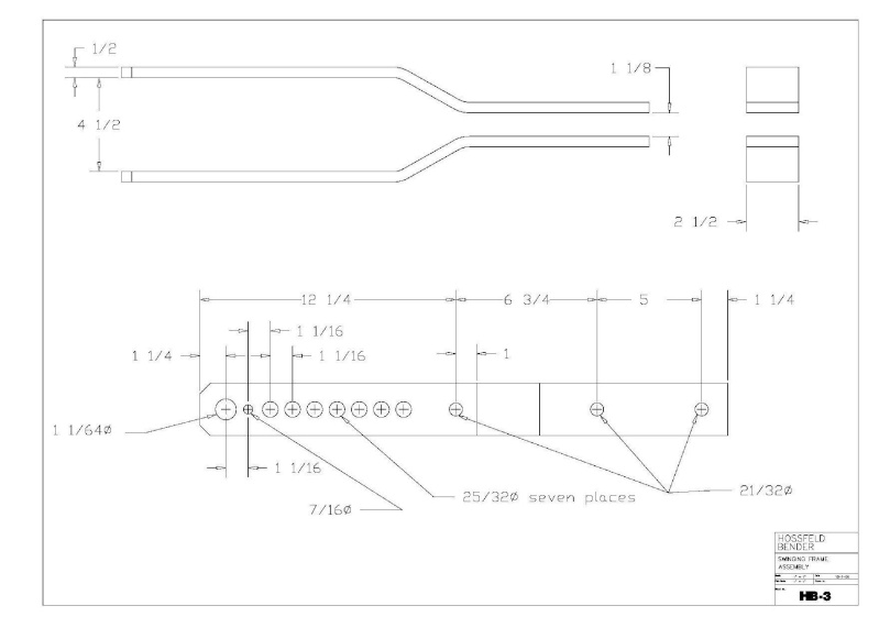 Plans to Build a Hosfeld Bender Hb_310