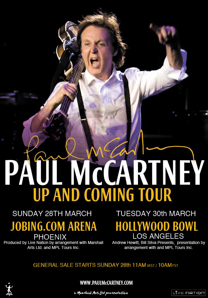 Paul McCartney on UP AND COMING TOUR Tourpo10