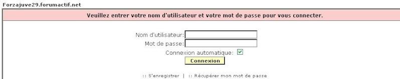 Oublie de mot de passe et nom d'utilisateur Oublie10